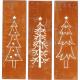 Metal canvas fir tree, 3 motifs assorted , H50W15c